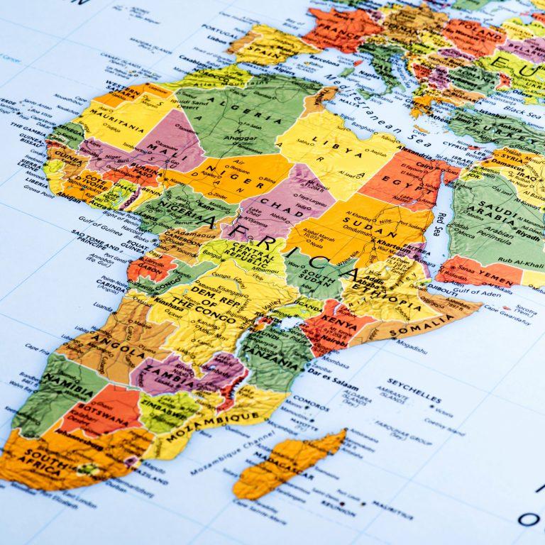 Afrikka kartta