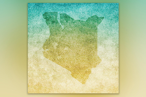 Illustration of Kenya's map.