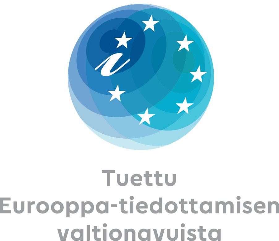Tuettu Eurooppa-tiedottamisen valtionavuista -logo