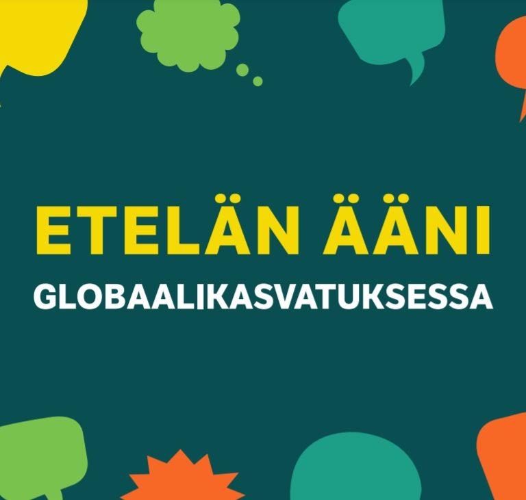 Etelän ääni globaalikasvatuksessa -oppaan kansikuva